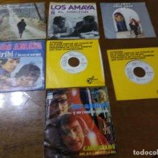 Discos de vinilo: LOS AMAYA Y SU COMBO GITANO - LOTE SIETE SINGLES-ACID RUMBA-. Lote 194585132