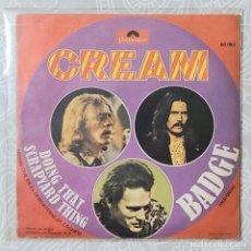 Discos de vinilo: CREAM - BADGE. Lote 194586203