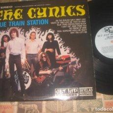 Discos de vinilo: THE CYNICS - BLUE TRAIN STATION + ENCARTE (GET HIPRECORDS 1987)-OG USA GARAGE PUNK SEGUNDA MANO. Lote 194586282
