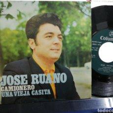 Discos de vinilo: JOSÉ RUANO SINGLE CAMIONERO 1972. Lote 194586387