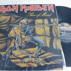 Discos de vinilo: IRON MAIDEN-LP PIECE OF MIND-LONDON 1983-LATERAL REGULAR-GATEFOLD. Lote 194588165