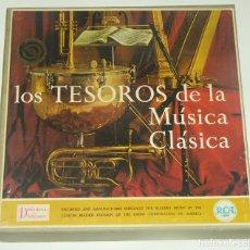 Discos de vinilo: LOS TESOROS DE LA MÚSICA CLÁSICA / DISCOTECA SELECCIONES / CAJA-ÁLBUM CON 10 LP. Lote 194597615