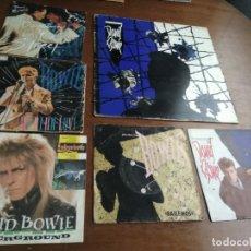 Discos de vinilo: DAVID BOWIE-LOTE- UN MAXI Y CINCO SINGLES -. Lote 194598567