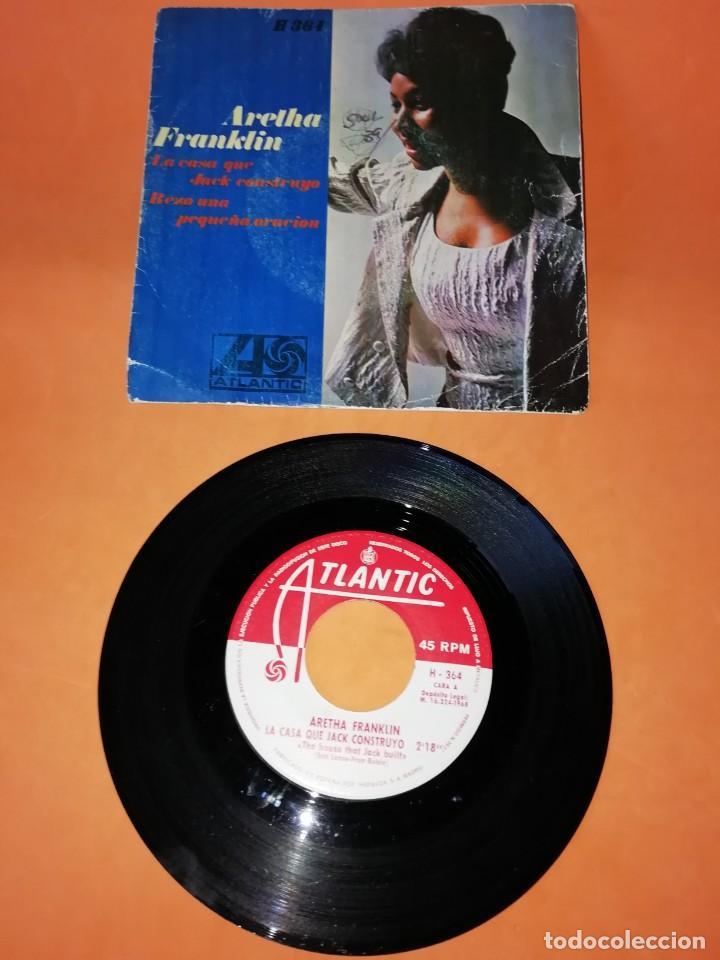 ARETHA FRANKLIN. LA CASA QUE JACK CONSTRUYO. REZO UNA PEQUEÑA ORACION. ATLANTIC RECORDS 1968 (Música - Discos - Singles Vinilo - Funk, Soul y Black Music)