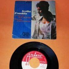 Discos de vinilo: ARETHA FRANKLIN. LA CASA QUE JACK CONSTRUYO. REZO UNA PEQUEÑA ORACION. ATLANTIC RECORDS 1968. Lote 194600416