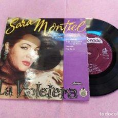 Discos de vinilo: SINGLE SARA MONTIEL – INTERPRETA LAS CANCIONES DE LA PELÍCULA LA VIOLETERA EP PORTUGAL (VG++/EX) V. Lote 194601620