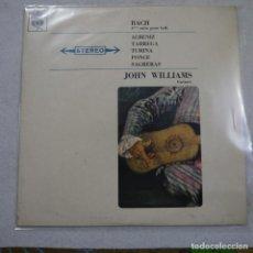 Discos de vinilo: JOHN WILLIAMS, GUITARE - BACH, ALBENIZ, TARREGA Y OTROS - LP FRANCE . Lote 194602945