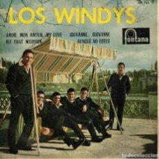Discos de vinilo: LOS WINDYS - AMOR, MON AMOUR, MY LOVE - GIOVANNE, GIOVANNE + 2 - EP SPAIN . Lote 194605357