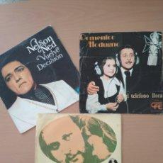 Discos de vinilo: LOTE 3 SINGLEA, NELSON NED, DOMENICO MODUGNO, DANIEL BOONE.. Lote 194605931