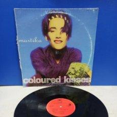 Discos de vinilo: MAXI SINGLE DISCO VINILO MARTIKA COLOURED KISSES. Lote 194606641