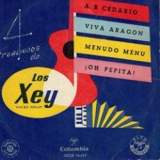 Discos de vinilo: LOS XEY - A B CEDARIO + 3 - EP SPAIN AÑOS 50. Lote 194606950