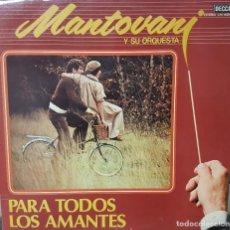 Discos de vinilo: MANTOVANY Y SU ORQUESTA - PARA TODOS LOS AMANTES - DOBLE LP CARPETA ABIERTA - DECCA - ESPAÑA 1981. Lote 194607062