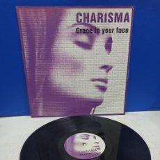 Discos de vinilo: MAXI SINGLE DISCO VINILO CHARISMA GRACE IN YOUR FACE. Lote 194608437