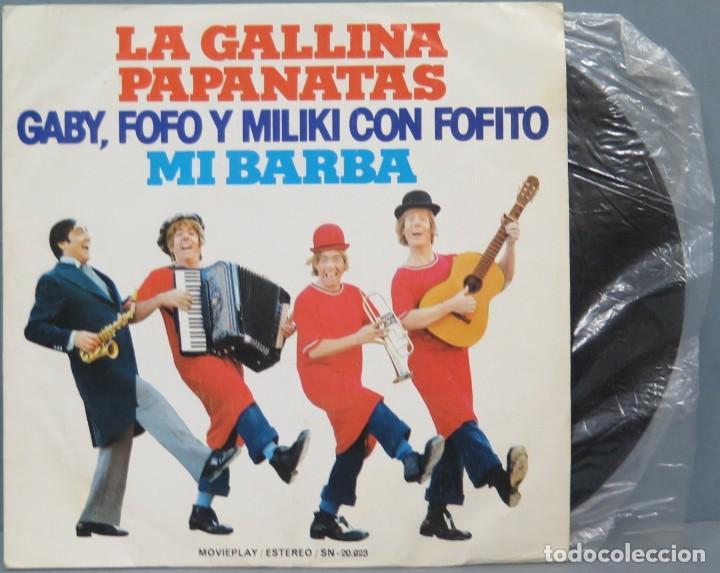 EP. LA GALLINA PAPANATAS. GABY, FOFO Y MILIKI CON FOFITO (Música - Discos de Vinilo - EPs - Música Infantil)