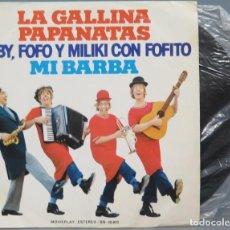 Discos de vinilo: EP. LA GALLINA PAPANATAS. GABY, FOFO Y MILIKI CON FOFITO. Lote 194609572