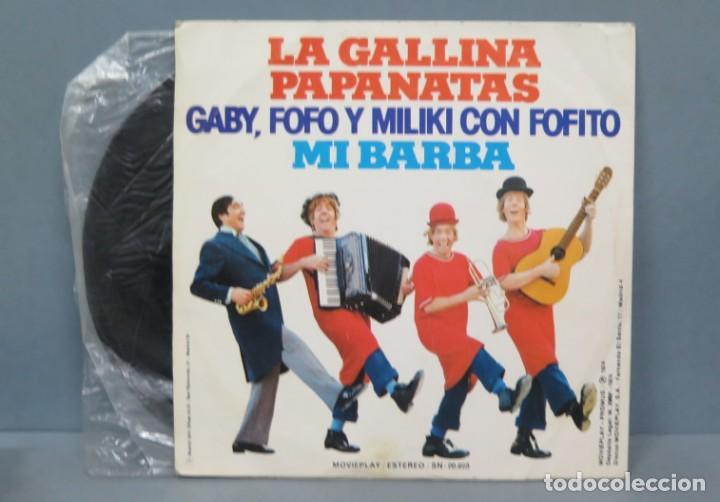 Discos de vinilo: EP. LA GALLINA PAPANATAS. GABY, FOFO Y MILIKI CON FOFITO - Foto 2 - 194609572