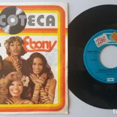 Discos de vinilo: EBONY / YOU'RE DRIVING ME CRAZY / SINGLE 7 INCH. Lote 194610143