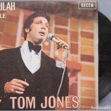Discos de vinilo: SINGLE. TOM JONES. DELILAH. SMILE. Lote 194610438