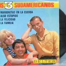Discos de vinilo: EP. LOS 3 SUDAMERICANOS. MARIONETAS EN LA CUERDA. Lote 194610932