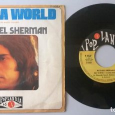 Discos de vinilo: MICHAEL SHERMAN / HALF A WORLD / SINGLE 7 INCH. Lote 194611335