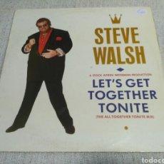 Discos de vinilo: STEVE WALSH - LET'S GET TOGETHER TONITE (THE ALL TOGETHER TONITE MIX). Lote 194611620