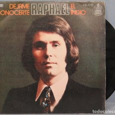 Discos de vinilo: SINGLE. RAPHAEL. DEJAME CONOCERTE. Lote 194614075