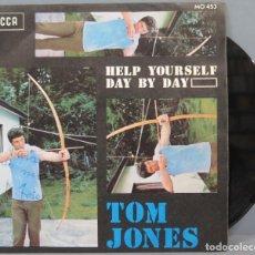 Discos de vinilo: SINGLE. TOM JONES. HELP YOURSELF. Lote 194614141