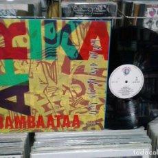 Discos de vinilo: LMV - AFRIKA BAMBAATAA. JUST GET UP AND DANCE. SPITFIRE MUSIC 1991, REF. SPX - 133 -- MAXI-SINGLE. Lote 194614353