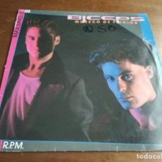 Discos de vinilo: BICEPS: MUÑECO DE FICCIÓN, MAXISINGLE EPIC, 1985.SYNTH-POP. Lote 194616098