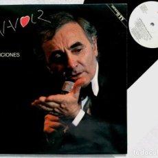 Discos de vinilo: CHARLES AZNAVOUR - SUS CANCIONES - DOBLE LP 2XLP 1990 CON INSERTO - PDI. Lote 194616401