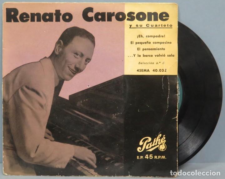 EP. ENATO CAROSONE. EH COMPADRE + 3 (Música - Discos de Vinilo - EPs - Canción Francesa e Italiana)