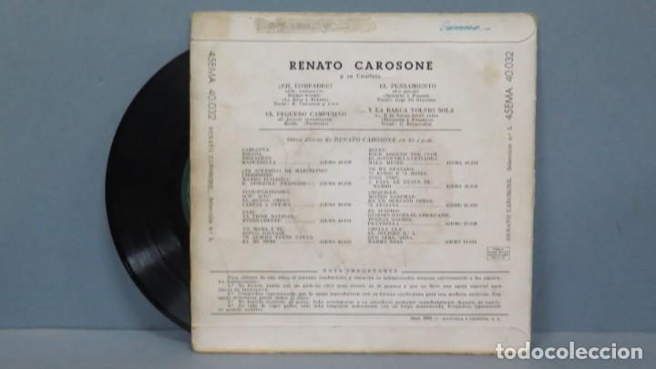 Discos de vinilo: EP. ENATO CAROSONE. EH COMPADRE + 3 - Foto 2 - 194616551