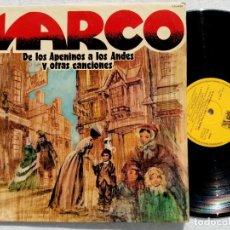 Discos de vinilo: MARCO - DE LOS APENINOS A LOS ANDES Y OTRAS CANCIONES - LP 1977 - CAUDAL. Lote 194617155