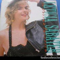 Discos de vinilo: LETICIA SABATER, TU VECINA FAVORITA, MAXI-SINGLE PROMO SPAIN 1990 + DOCUMENTO BIOGRAFICO PROMOCIONAL. Lote 194617415