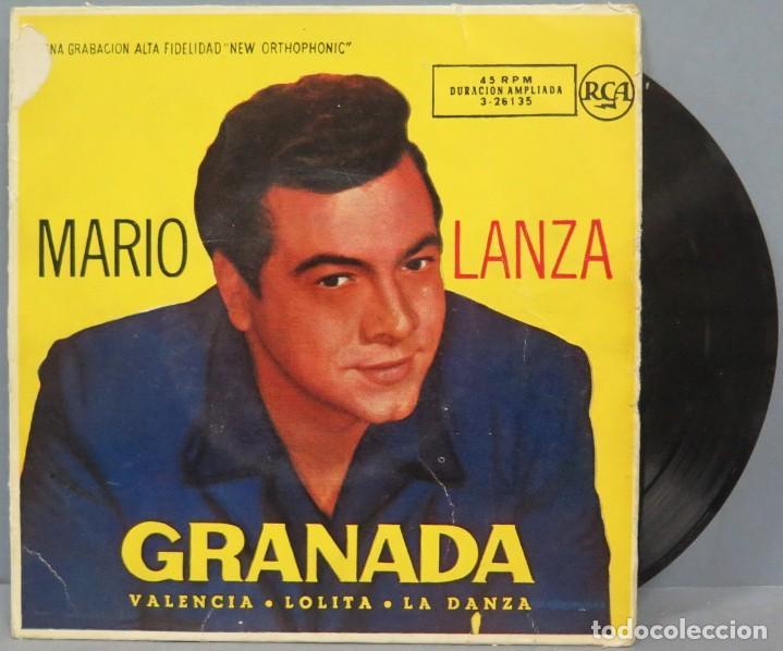 EP. MARIO LANZA. GRANADA (Música - Discos de Vinilo - EPs - Clásica, Ópera, Zarzuela y Marchas)