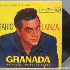 Discos de vinilo: EP. MARIO LANZA. GRANADA. Lote 194617687