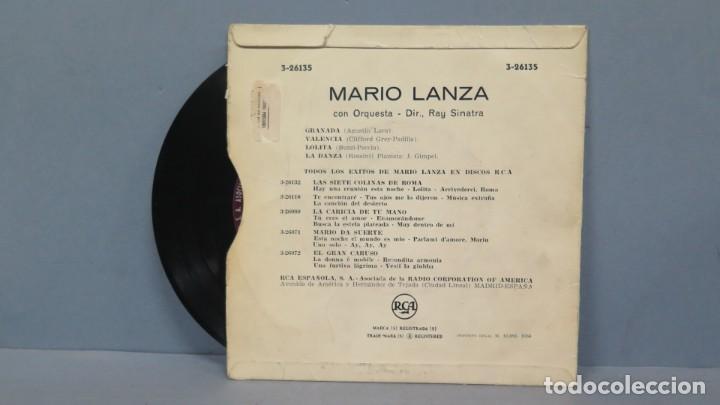 Discos de vinilo: EP. MARIO LANZA. GRANADA - Foto 2 - 194617687