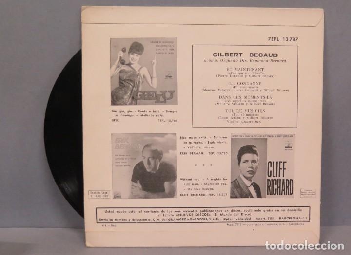 Discos de vinilo: EP. GILBERT BÉCAUD. ET MAINTENANT - Foto 2 - 194617771