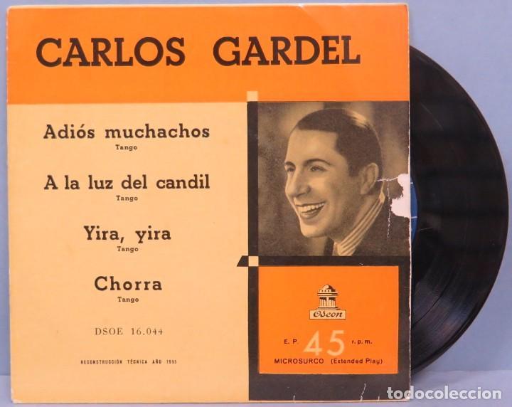 EP. ARLOS GARDEL. ADIOS MUCHACHOS + 3 (Música - Discos de Vinilo - EPs - Grupos y Solistas de latinoamérica)