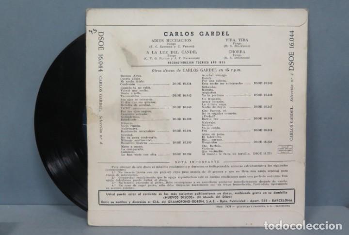Discos de vinilo: EP. ARLOS GARDEL. ADIOS MUCHACHOS + 3 - Foto 2 - 194617861