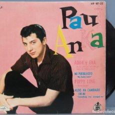 Discos de vinilo: EP. PAUL ANKA. ADAN Y EVA. Lote 194618053