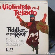 Discos de vinilo: SINGLE. EL VIOLINISTA EN EL TEJADO. Lote 194618135