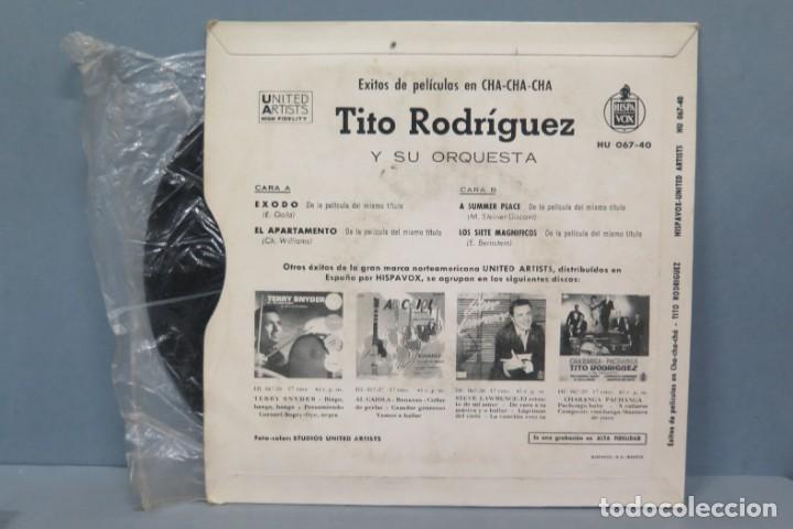 Discos de vinilo: EP. TITO RODRIGUEZ. EXODO +3 - Foto 2 - 194618297