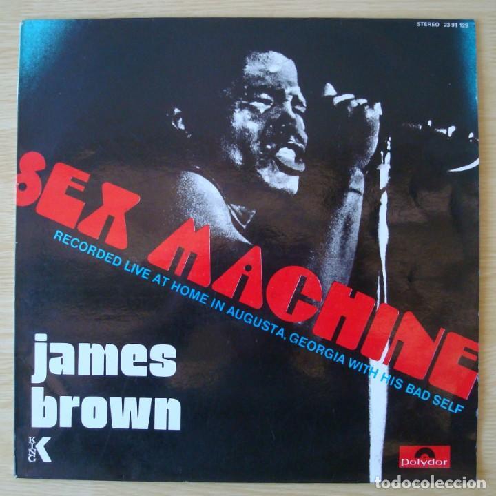 JAMES BROWN : SEX MACHINE (LIVE IN AUGUSTA, GEORGIA) - REEDICION 1984 POLYDOR (Música - Discos - LP Vinilo - Funk, Soul y Black Music)
