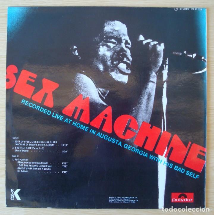 Discos de vinilo: JAMES BROWN : SEX MACHINE (LIVE IN AUGUSTA, GEORGIA) - REEDICION 1984 POLYDOR - Foto 2 - 194619752