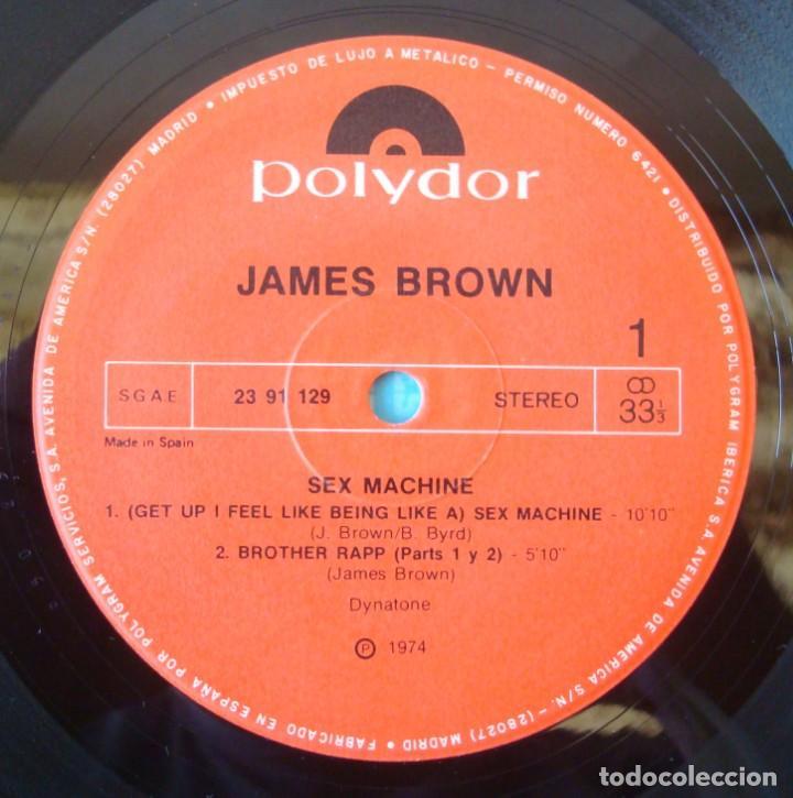 Discos de vinilo: JAMES BROWN : SEX MACHINE (LIVE IN AUGUSTA, GEORGIA) - REEDICION 1984 POLYDOR - Foto 3 - 194619752