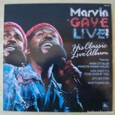 Discos de vinilo: MARVIN GAYE : LIVE! (1971) - REEDICION INGLATERRA 1987 TAMLA MOTOWN / HALLMARK. Lote 194620385