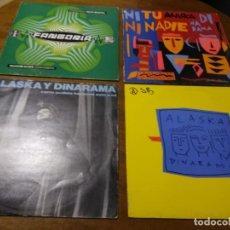Discos de vinilo: ALASKA - LOTE CUATRO MAXI-SINGLES ORIGINALES. Lote 194621188