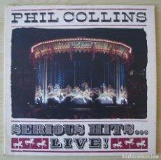 Discos de vinilo: PHIL COLLINS : SERIOUS HITS... LIVE! - DOBLE LP ORIGINAL ALEMANIA 1990 WEA. Lote 194621631