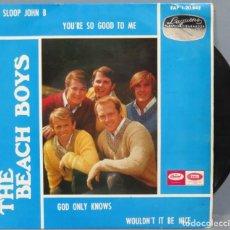 Discos de vinilo: EP. THE BEACH BOYS. SLOOP JOHN B + 3. Lote 194622543